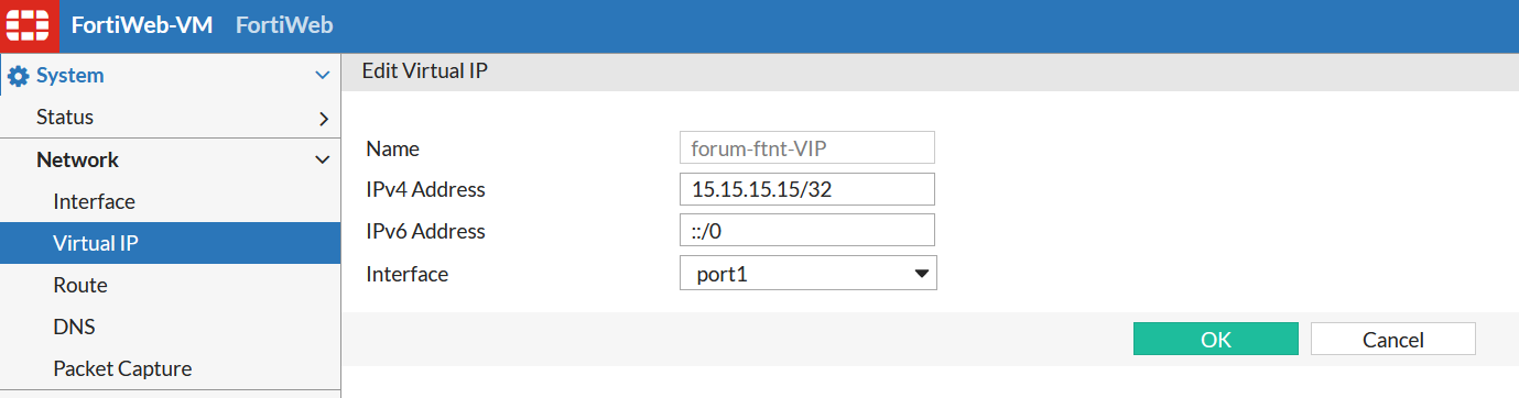 create VIP for external IP